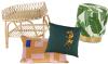 Woonfavorieten: rotan bijzettafeltje + tropische poef