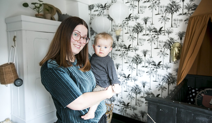 Baby tour in de jungle babykamer van Debbie