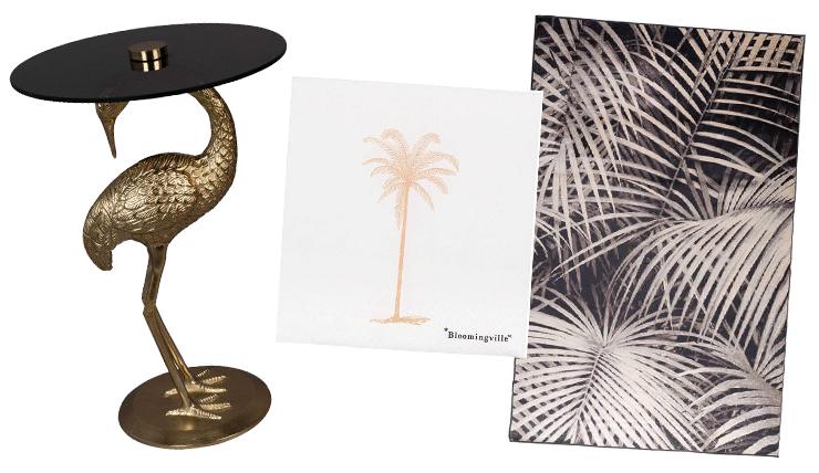 Woonfavorieten: luxe bijzettafel & tropische servetten