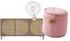 Woonfavorieten: roze poef + hartverwarmend lampje