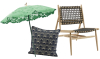 Woonfavorieten: design parasol & luxe tuinstoel