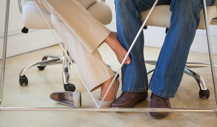 Flirten met een collega