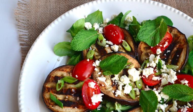 Salade aubergine en feta