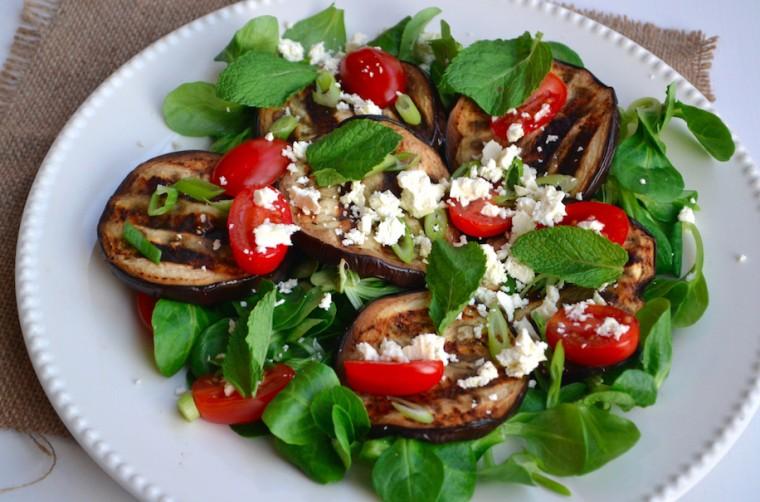 Salade auberine en feta 2