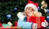 meisje kerst stock
