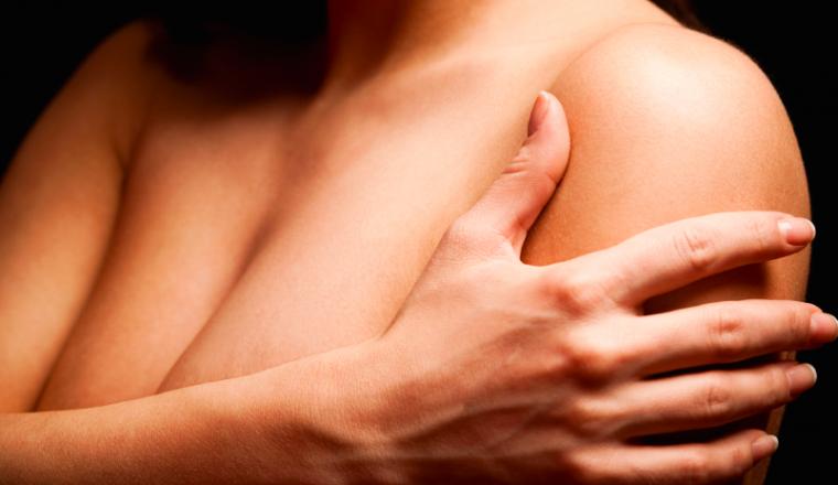 pijnlijke borsten - stock