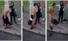 Vrouw laat tasjesdief zich op straat uitkleden