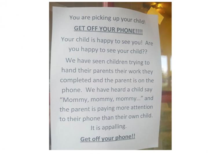Kinderdagverblijf hangt een impactvolle boodschap op waar veel ouders van kunnen leren