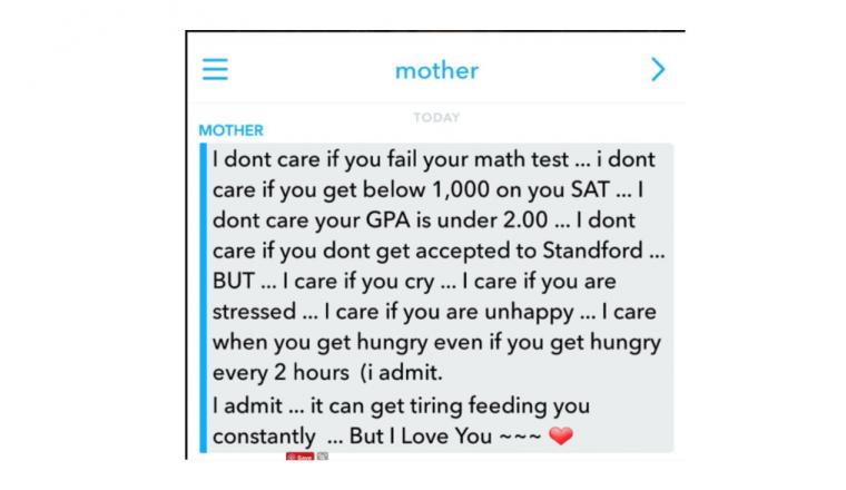 Moeder schrijft geweldig bericht aan dochter die zichzelf te hoge eisen stelt