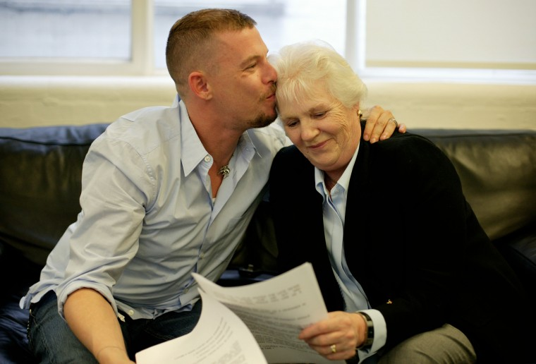 Alexander Mcqueen interviewed for G2 by his mother Joyce.  Photo by Dan Chung