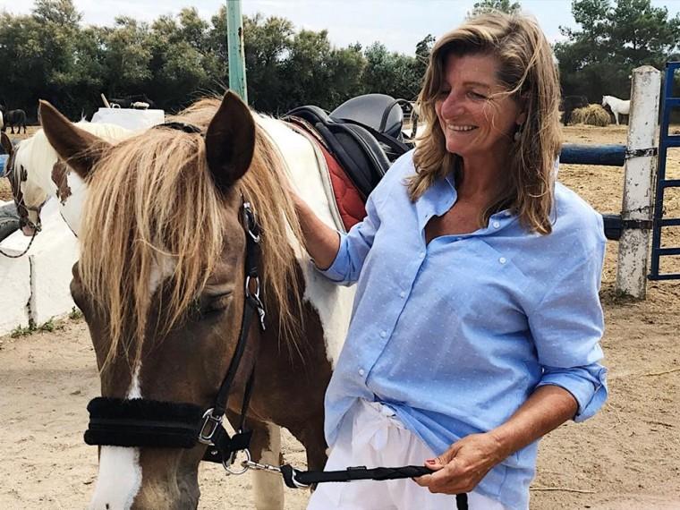 Sandra-paardrijden
